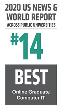 #14 Online Graduate Computer IT Across Public Universities, U.S. News & World Report
