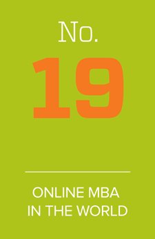 No. 19 online MBA in the world