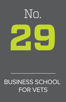 No. 29 business school for vets
