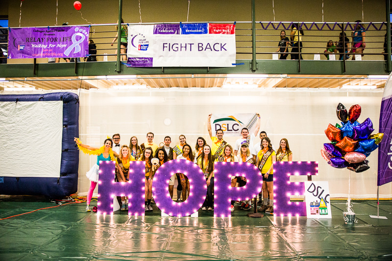 Relay for Life students stand together for a portrait