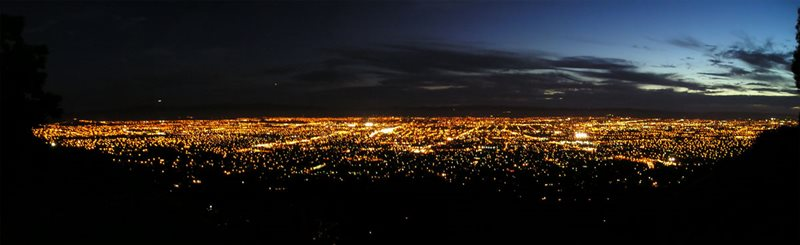 San Jose at night, via Wikimedia Commons