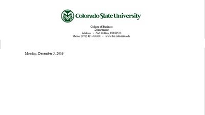 Official letterhead